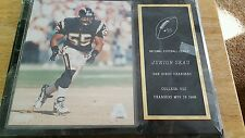 """SAN DIEGO CHARGERS MEMORIAL WALL PLAQUE REPRESENTING """"JUNIOR SEAU"""" NFL LICENSED"""