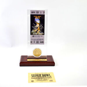 Highland Mint Super Bowl XVI Replica Ticket with Bronze Coin 49ers