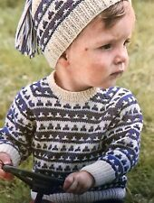 CB95 - Knitting Pattern - Children's DK Jumper &  Hat Set - Child's