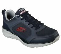 Skechers Men Sport Shoes Navy Gray  Memory Foam Comfort Casual Train Soft 52940