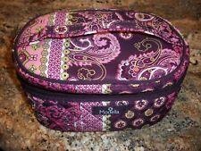 Modella Purple Paisley Print Zip Around Cosmetic Bag