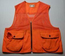 Vintage LL Bean Orange Hunting Vest Mens XXL