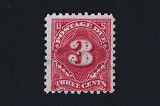 3c Postage Due 1914 Scott #J54 Carmine Perf 10 Single Line Watermark