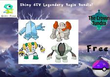 Pokemon Sword/Shield/Home-6IV-Shiny Regis Bundle