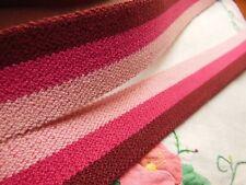 Espumoso elástico vintage tono rosa original gran 2 metro sobre 3 cm antiguo