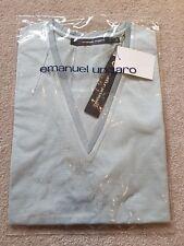 BNWT EMANUEL UNGARO Mens Short Sleeve Light Green Top Size L 100% Cotton