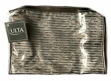🌺 ULTA Makeup Cosmetic Make-up Makeup Case Bag Pouch Gold / Metallic / Clear 🌺