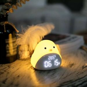 Chick Touch LED Night Light Clock With Alarm And Temperature Display