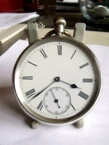 ANTIQUE SOLID SILVER ERRINGTON ENGLISH LEVER POCKET WATCH 16 jewels 1896 CHESTER