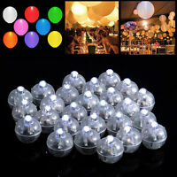 50PCS Led White Ball Lamps Balloon Light Paper Lantern Wedding Party Decoration