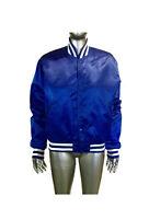 Vintage Men's Starter Jacket, Blue Satin Starter Jacket, Size M