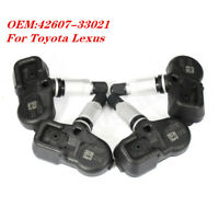 4PCS 42607-33021 TIRE PRESSURE SENSOR TPMS PMV-107J For Scion Toyota Lexus NEW