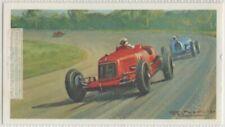 1931 Monza Grand Prix Fagioli Maserati  Race Vintage Trade  Ad Card