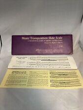 Vintage Lillenas Music Transposition Slide Scale 1938 Walter L Brown