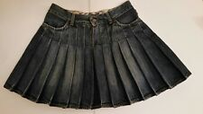 burberry London womens skirt size 6 denim jeans mini pleated made in Italy