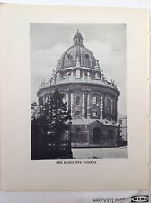 The Radcliffe Camera, Oxford,  1933 Vintage RP Print