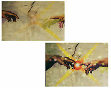 Michelangeno- Hands of God and Adam - 2 Phase Animated Postcard