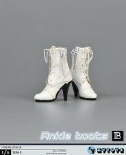"""White Female Leather Shoes Lace Up High Heels F 12"""" Action Figure ZYTOYS ZY16-28"""