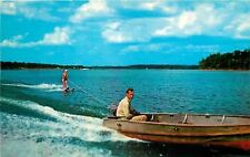 Gilbertsville KY~Small Outboard Motor Boat~Water Skier~Kentucky Lake~1955