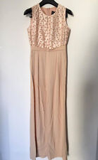 MaxMara bride EMMY pink nude wide leg trousers Jumpsuit/overall I40/F38/US6/UK8