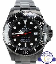 Men's Rolex Sea-Dweller DeepSea Black PVD Coated 116660 44mm Dive Date Watch