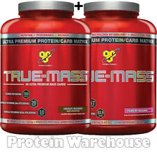 2 X 2.6Kg True Mass BSN Weight Gainer Truemass Serious Gold Gainer Sale £69.99