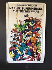 "Marvel Super Heroes the Secret War Poster (Marvel,1983) - 22""x34"" High Grade VF"
