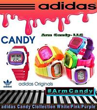 NWT New ADIDAS Digitals Candy ADH6050 Pink/Silicone Straps White/Purple Case LCD