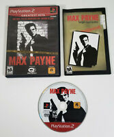 Max Payne (Sony PlayStation 2, 2001 PS2) - Complete w/ Manual, Tested