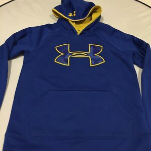 Under Armour 'Storm'Youth Large Hoodie Blue Fluoro Yellow Accents