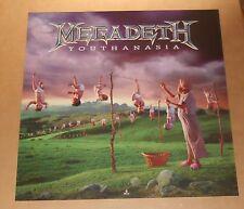 Megadeth Youthanasia Poster Original 1994 Promo 24x24 RARE