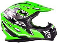 Youth Kids Helmet Motocross DOT Green Black ATV UTV MX OffRoad