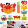 Crabs Electric Bubble Maker Machine Baby Kids Shower Bathing Music Bubbling Toys