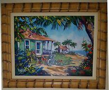 Steve Barton ISLAND SONG Framed Hand Embellished Ltd Ed. Giclee on Canvas W/COA.