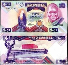ZAMBIA 50 KWACHA UNC BANKNOTE for note coin collector L-31