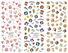 Nail Art Stickers Transfers Decals HOT Series Beautiful Superheroes 241-243