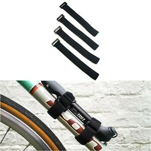 4 Back To Back Nylon Strap 20cm Bike Bicycle Pump Holder GPS Camera Ties ELASTIC