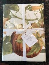 NEW Williams Sonoma Botanical Pumpkin Thanksgiving Tablecloth 70 x 108 or 120