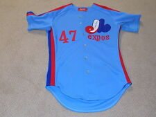 Buzz Capra Randy Lerch Game Worn Signed Jersey 1983 Montreal Expos
