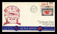 NORTHERN TRANS-ATLANTIC FIRST FLIGHT FAM 18 NEW YORK SHEDIAC CANADA US COVER