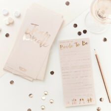 Pink & Rose Gold Bride to Be Advice Cards Team Bride Hen Party Advice Cards x 10