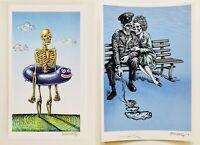 *(2) Handbills by Emek* Waiting For The Flood & World War 3 Couple*