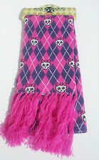 Sculls With Bow Boy London Pink Scarf by Silky Goth Punk