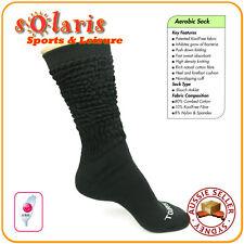 KoolFree Women's Aerobic Fitness Functional Sports Slouch Socks 1 pr Black/White