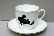 Cup and saucer TEA DRINKING, egg-shell bone china, LOMONOSOV IMPERIAL PORCELAIN