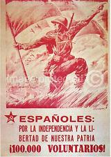Espaonles WW2 Spanish Civil War Vintage Spain Poster 18x24