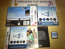 NINTENDO DS NDS TRAINING FOR YOUR EYES COMPLETO PAL ESPAÑA