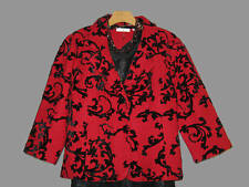 COLDWATER CREEK WOMEN'S FALL WINTER SPRING HOLIDAY FLOCKED SWEATER JACKET PLUS3X
