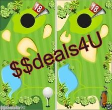 Golf Course Putt Putt  Cornhole Board Game Decal Wraps