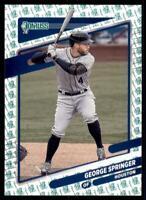 2021 Donruss Baseball Base Liberty #159 George Springer - Houston Astros
